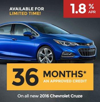 Chevrolet Cruze 2016 LX, LEATHER, SUNROOF